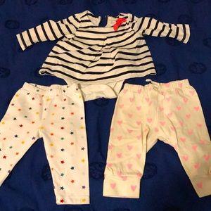 EUC set of pants and onesie